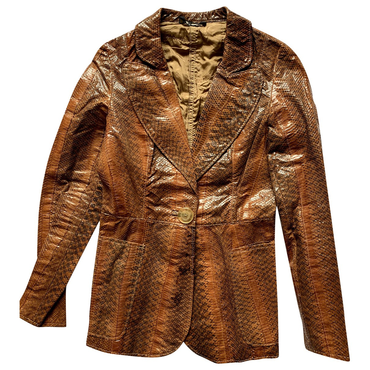 - Veste   pour femme en python - marron