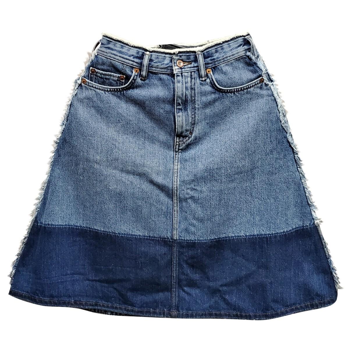 Acne Studios Blå Konst Blue Denim - Jeans skirt for Women 34 FR