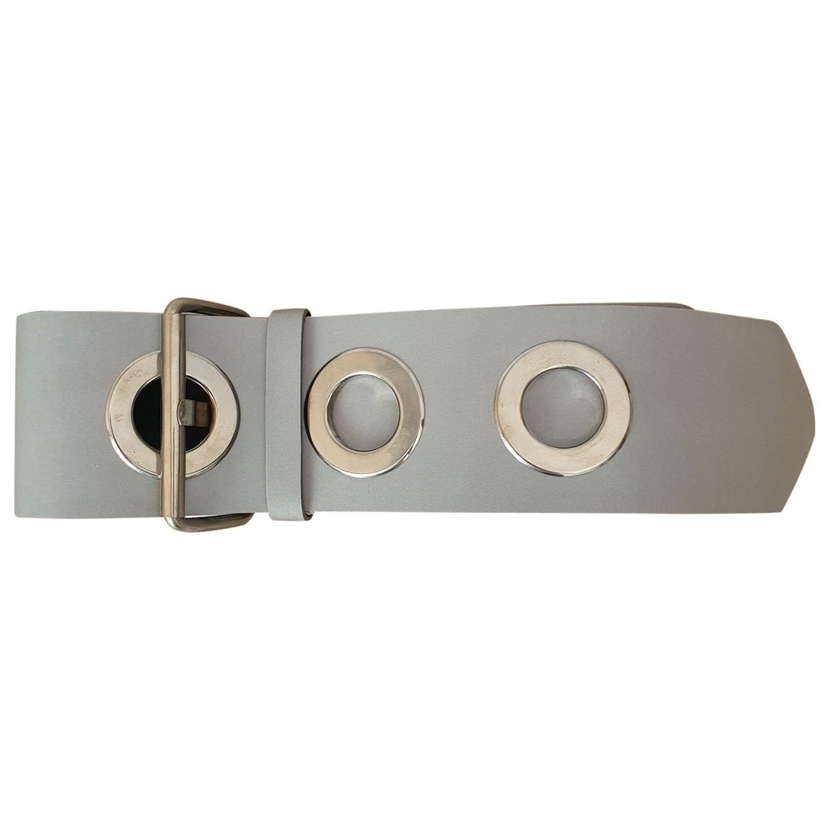 Mm6 \N Silver Leather belt for Women S International