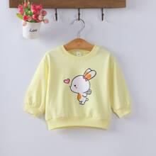 Toddler Girls Cartoon Graphic Sweatshirt