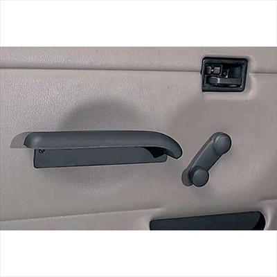 Rugged Ridge Full Steel Door Inner Arm Rests in Black Vinyl - 11830.02