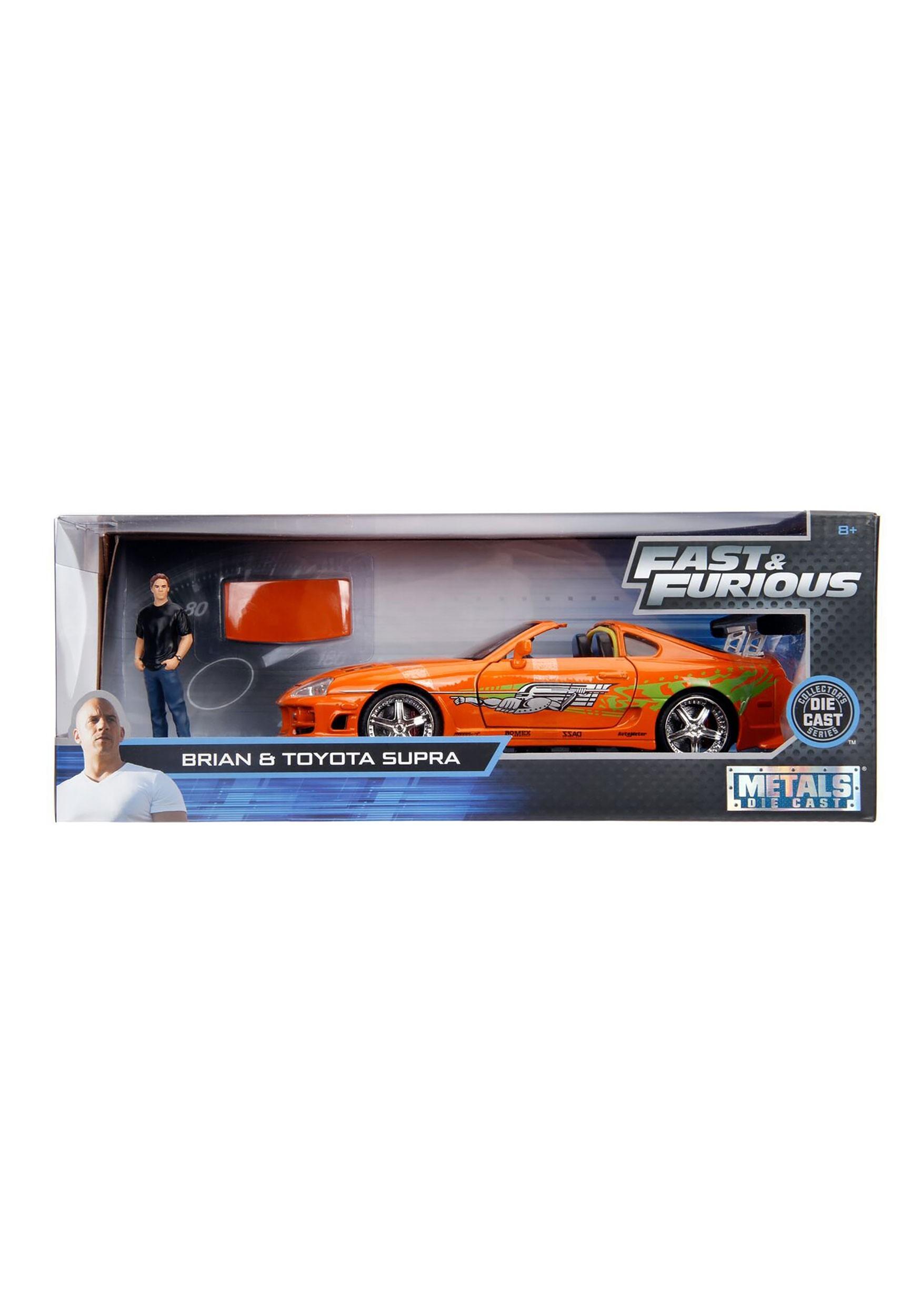 1:24 Scale Vehicle w/ Figure Toyota Supra w/ Brian