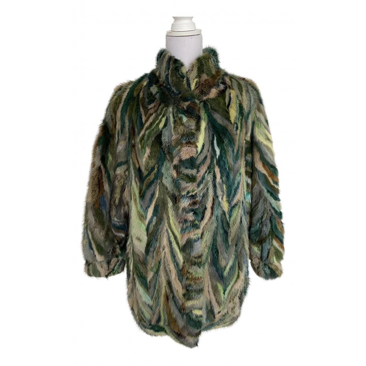 - Manteau   pour femme en vison - vert