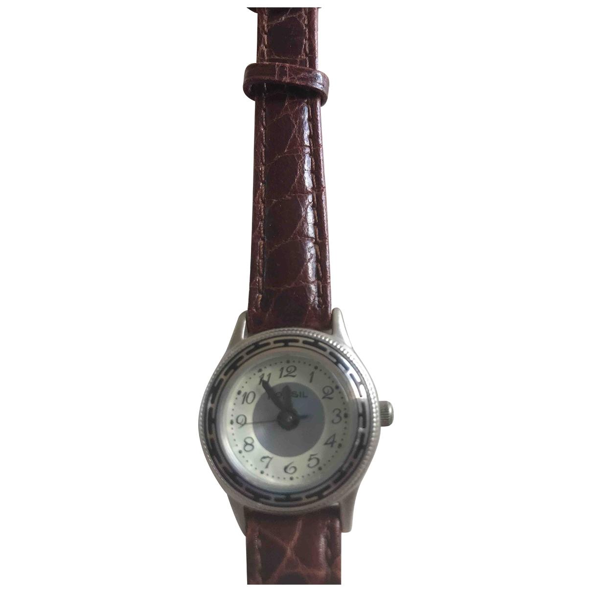 Fossil \N Uhr in  Braun Stahl