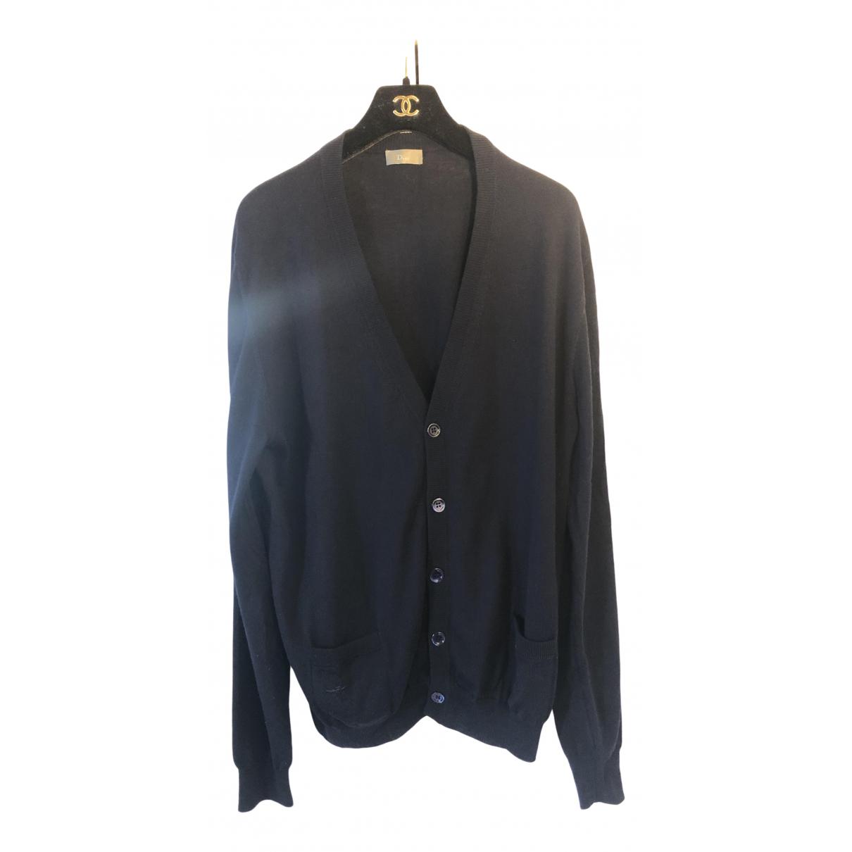 Dior Homme \N Pullover.Westen.Sweatshirts  in  Marine Wolle