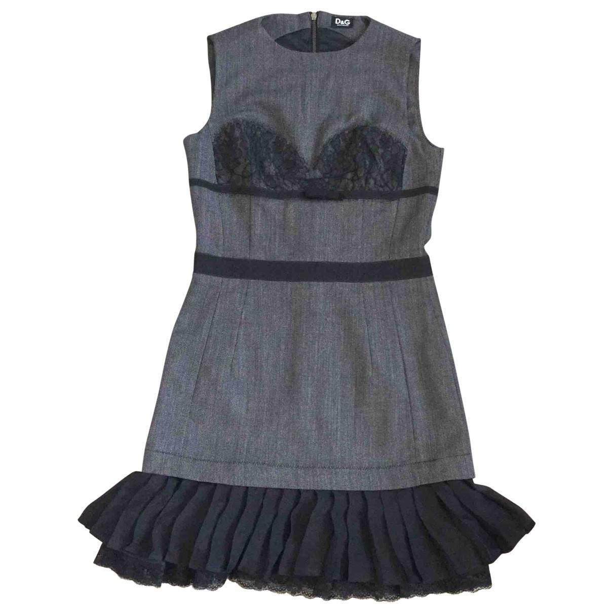 D&g \N Grey Cotton dress for Women 42 IT