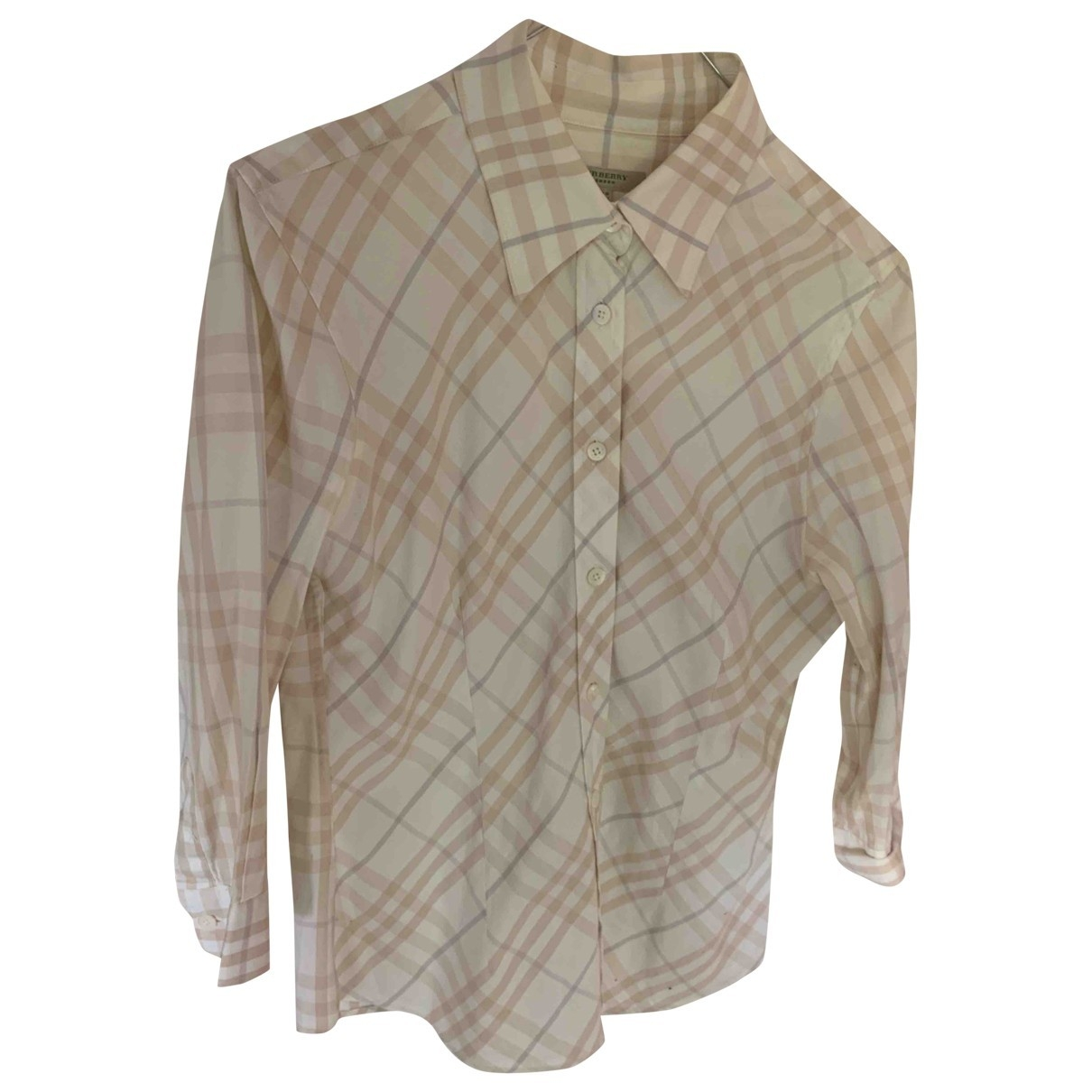 Burberry \N Beige Cotton  top for Women 36 FR