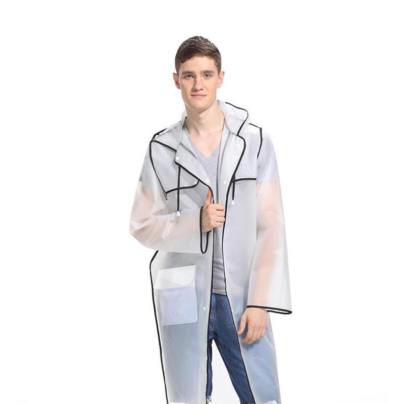 Fashion Couple EVA Environmental Raincoat Transparent Outdoor Travel Waterproof Raincoat