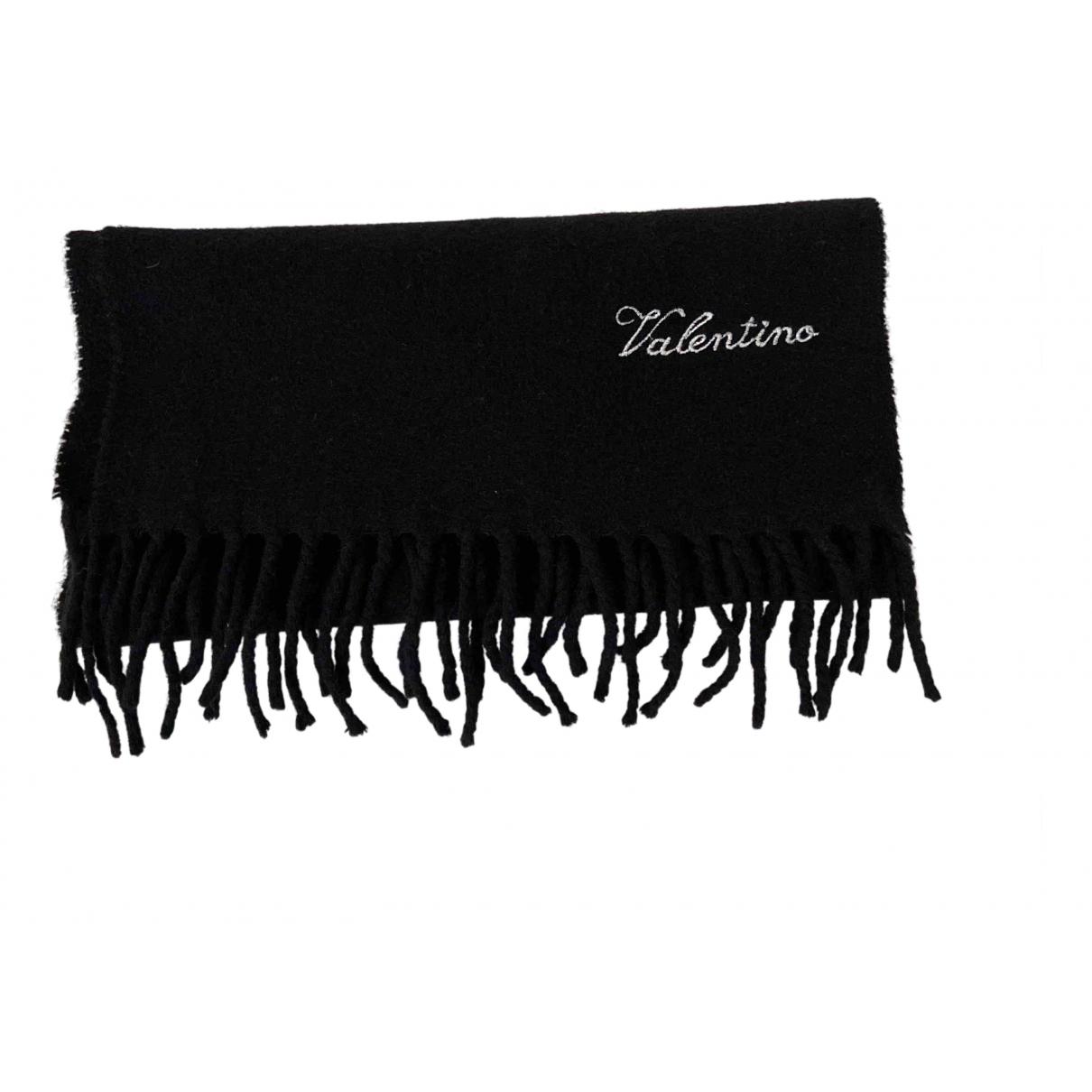 Valentino Garavani - Cheches.Echarpes   pour homme en laine - noir