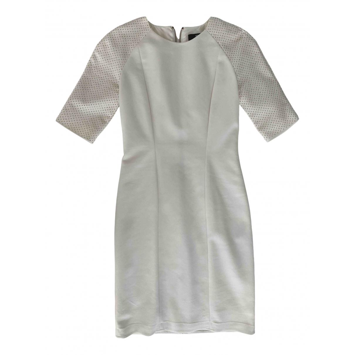 Versus \N Kleid in  Weiss Baumwolle