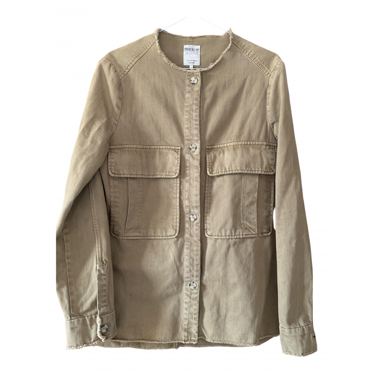 Zara \N Jacke in  Gruen Baumwolle