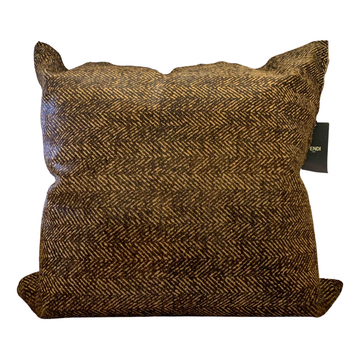 Fendi N Brown Leather Textiles for Life & Living N