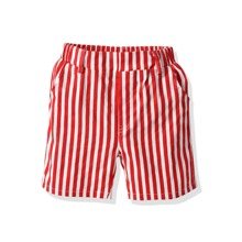 Baby Boy Vertical Striped Slant Pocket Shorts