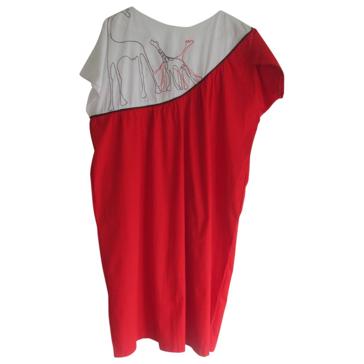 - Robe Oversize pour femme en coton - rouge