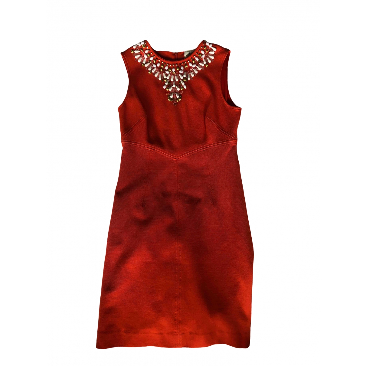 Milly \N Kleid in  Orange Baumwolle - Elasthan