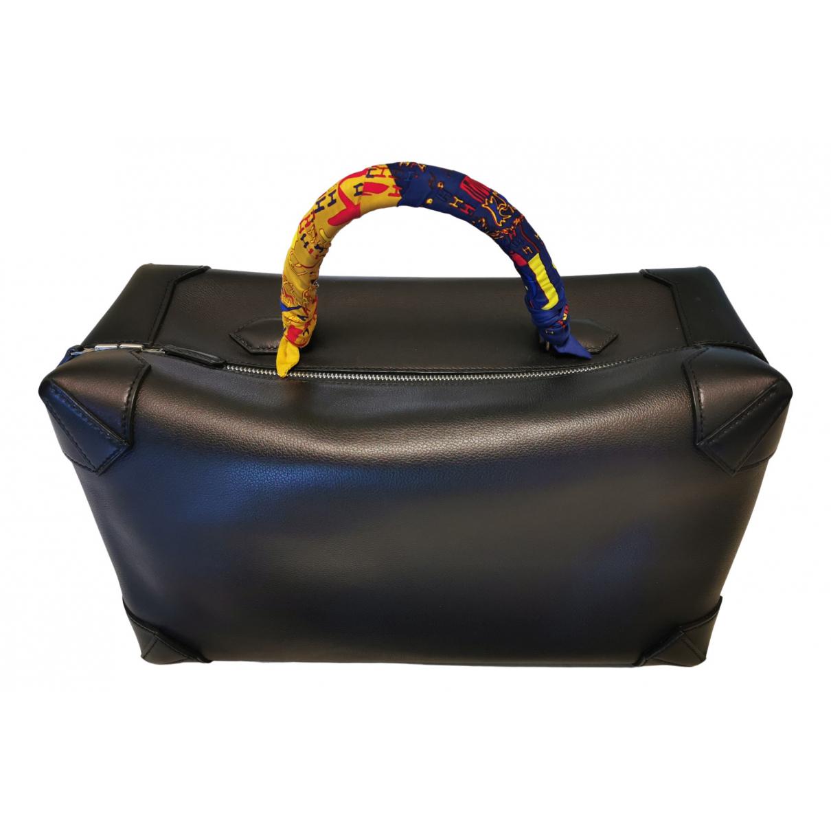 Hermes - Sac de voyage Maxibox pour femme en cuir - noir