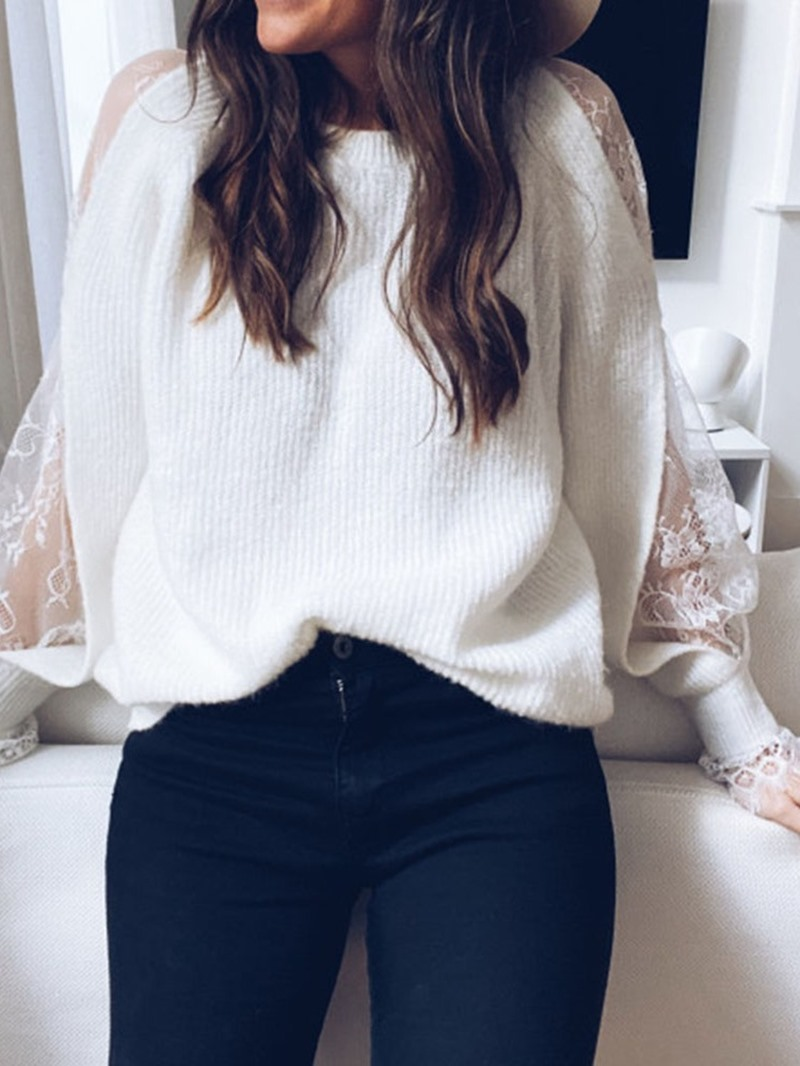 Ericdress Regular Patchwork Loose Standard Womens Sweater