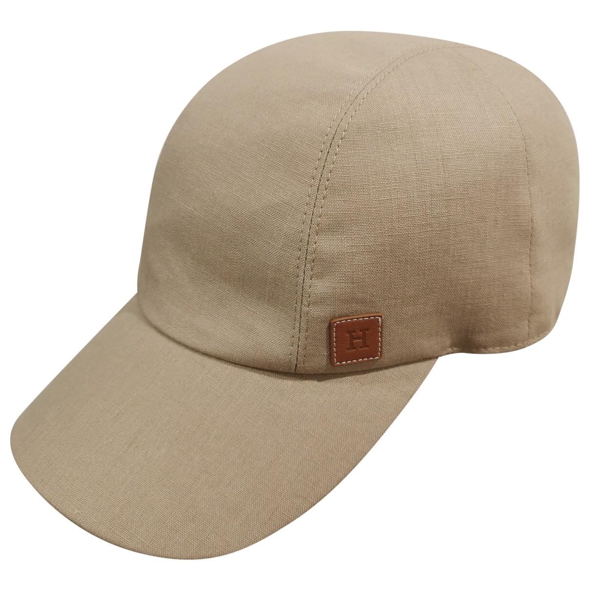 Hermès \N Beige Linen hat & pull on hat for Men 59 cm