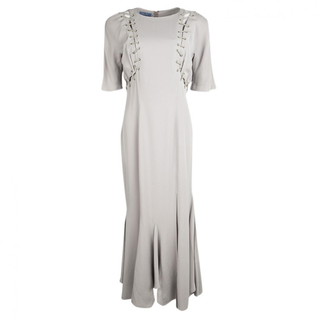 Thierry Mugler \N Kleid in  Beige Viskose