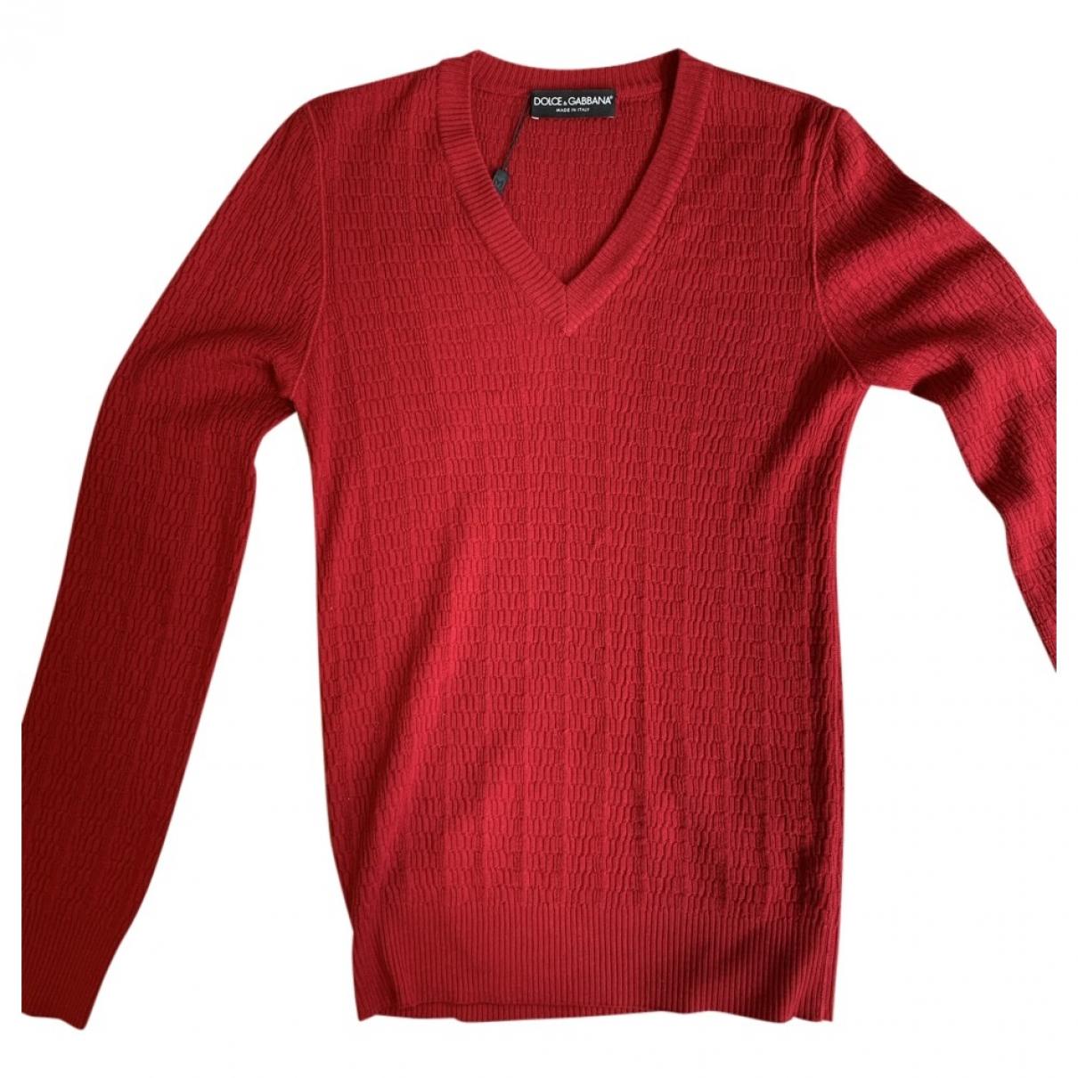 Dolce & Gabbana \N Pullover.Westen.Sweatshirts  in  Rot Wolle