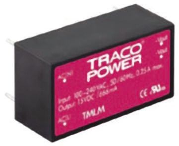 TRACOPOWER , 18W Embedded Switch Mode Power Supply SMPS, 5V dc, Encapsulated