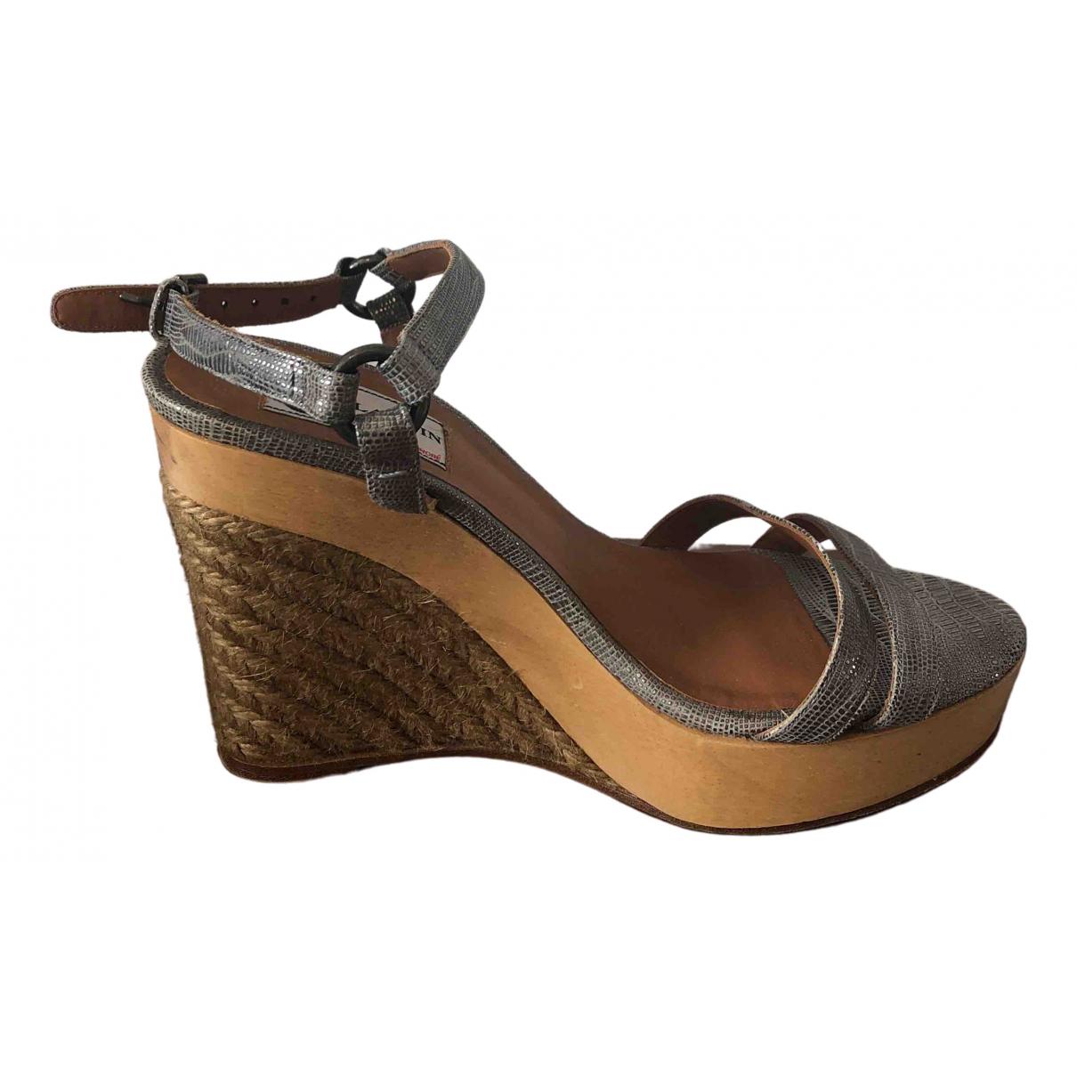 Lanvin \N Silver Leather Sandals for Women 37.5 EU