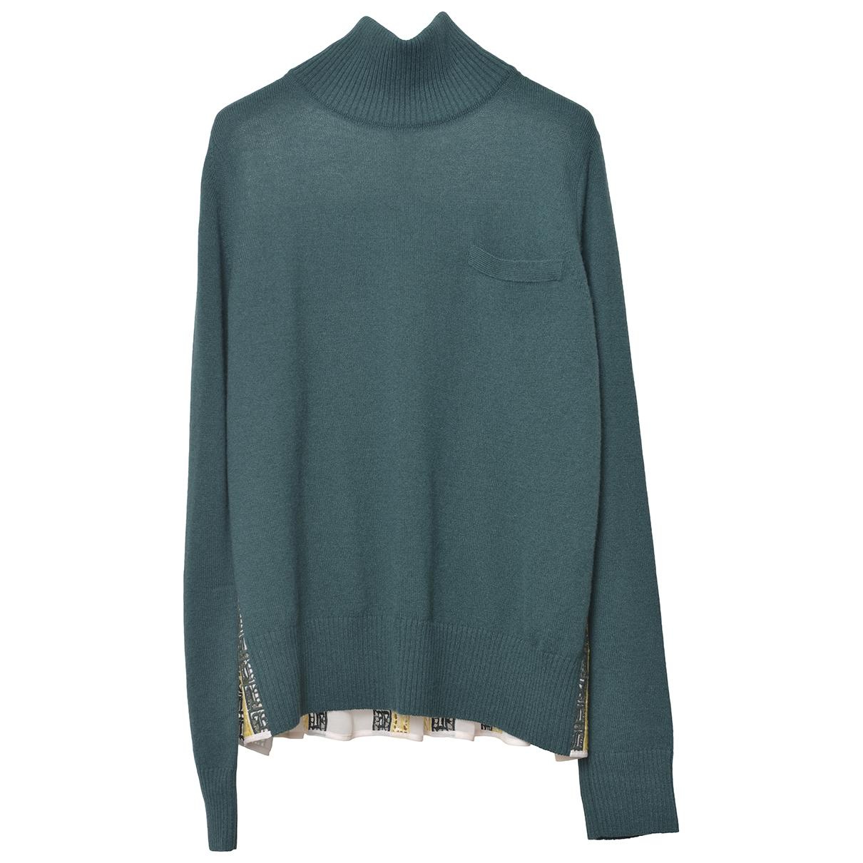 Sacai - Pull   pour femme en laine - vert