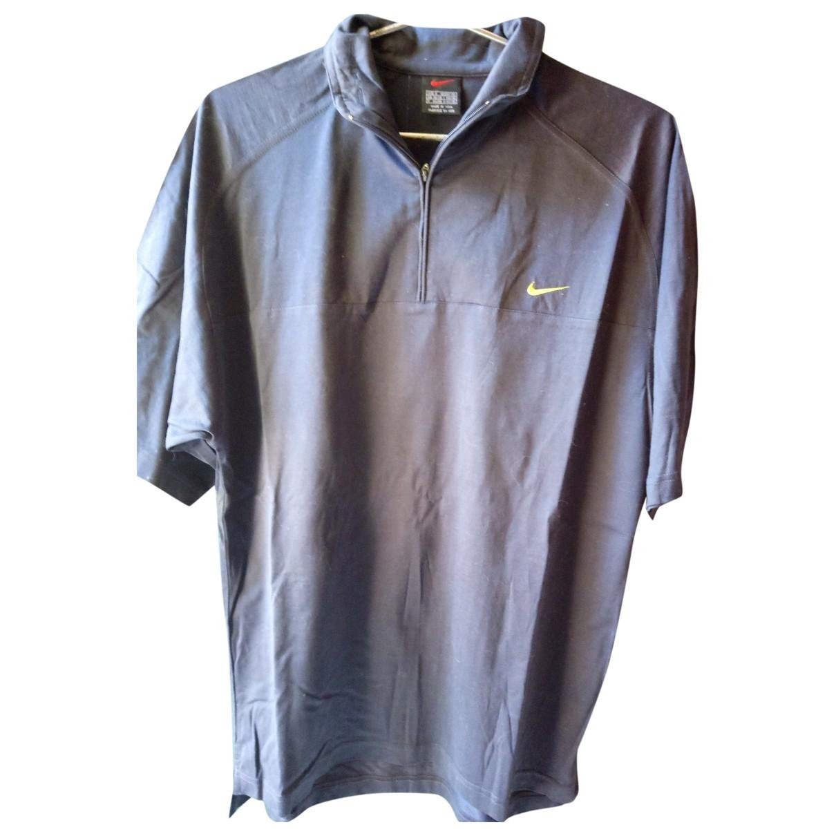 Nike - Polos   pour homme en coton - bleu