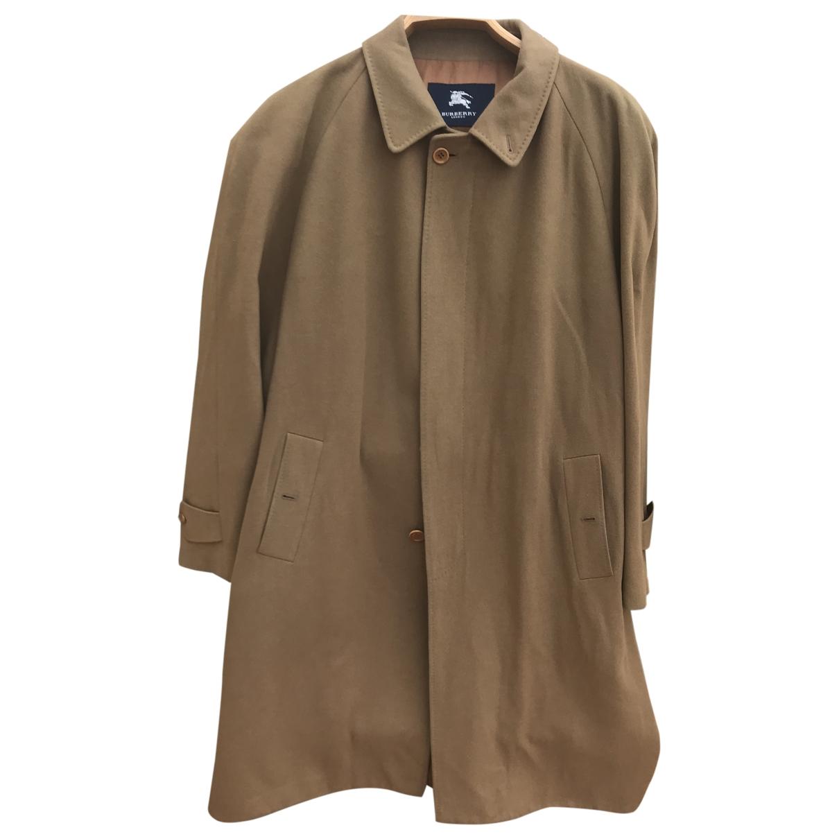 Burberry \N Maentel in  Braun Wolle