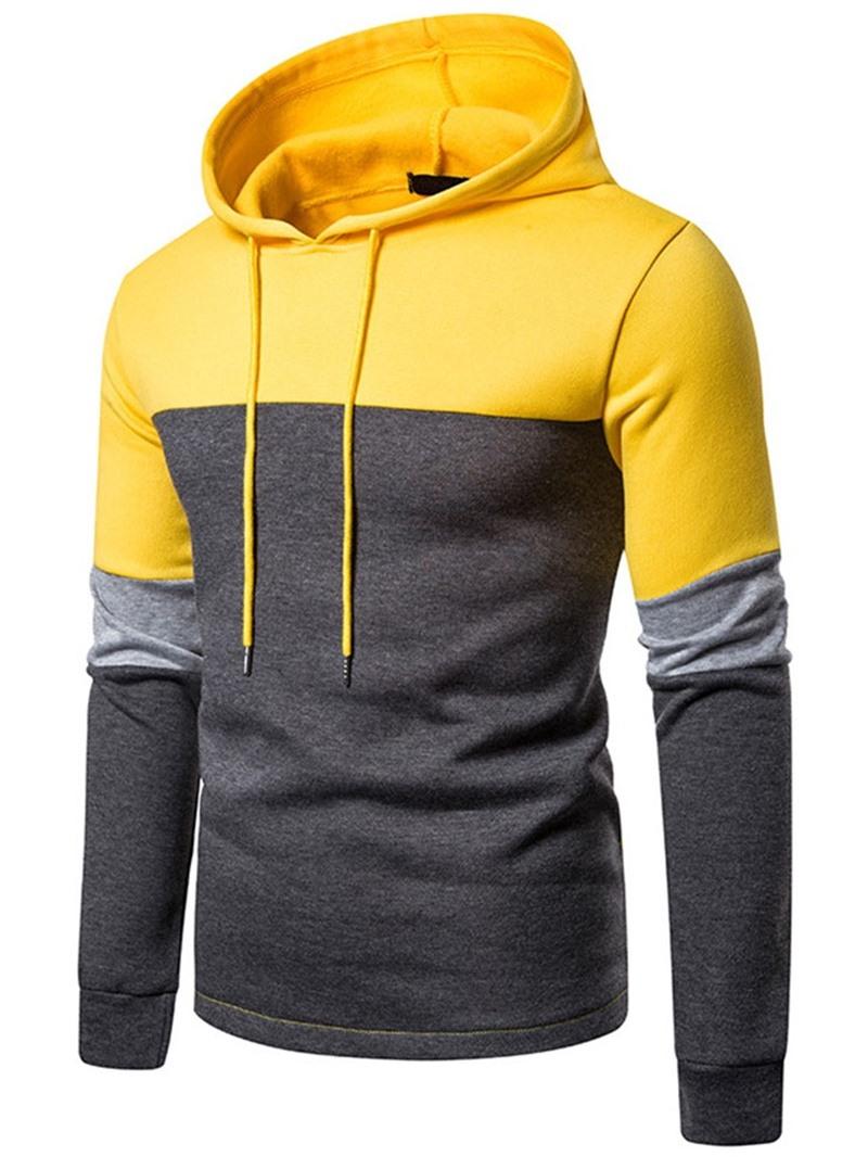 Ericdress Color Block Regular Pullover Men's Slim Casual Hoodies
