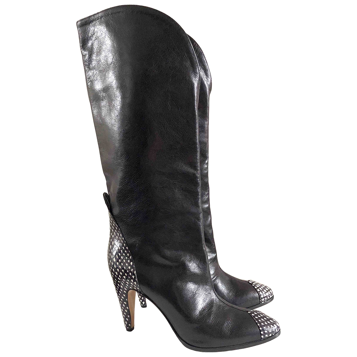 Givenchy \N Black Python Boots for Women 40 EU