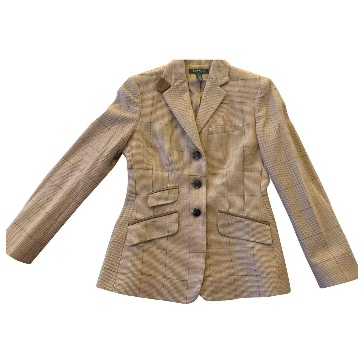 Lauren Ralph Lauren \N Beige Wool jacket for Women 4 US