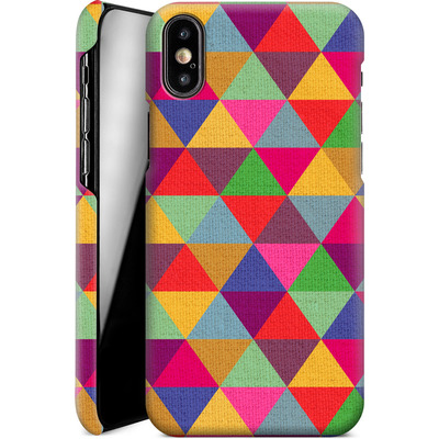 Apple iPhone XS Smartphone Huelle - In Love With Triangles von Bianca Green