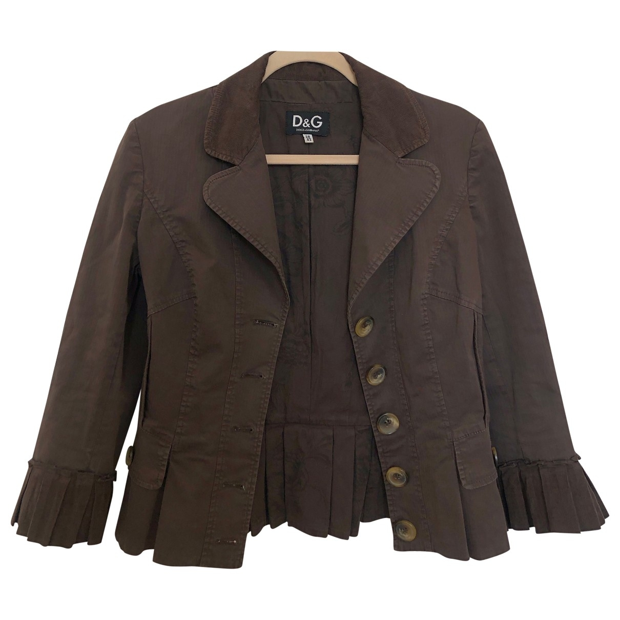 D&g \N Brown Cotton jacket for Women 42 IT