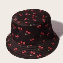 Guys Cherry Print Bucket Hat