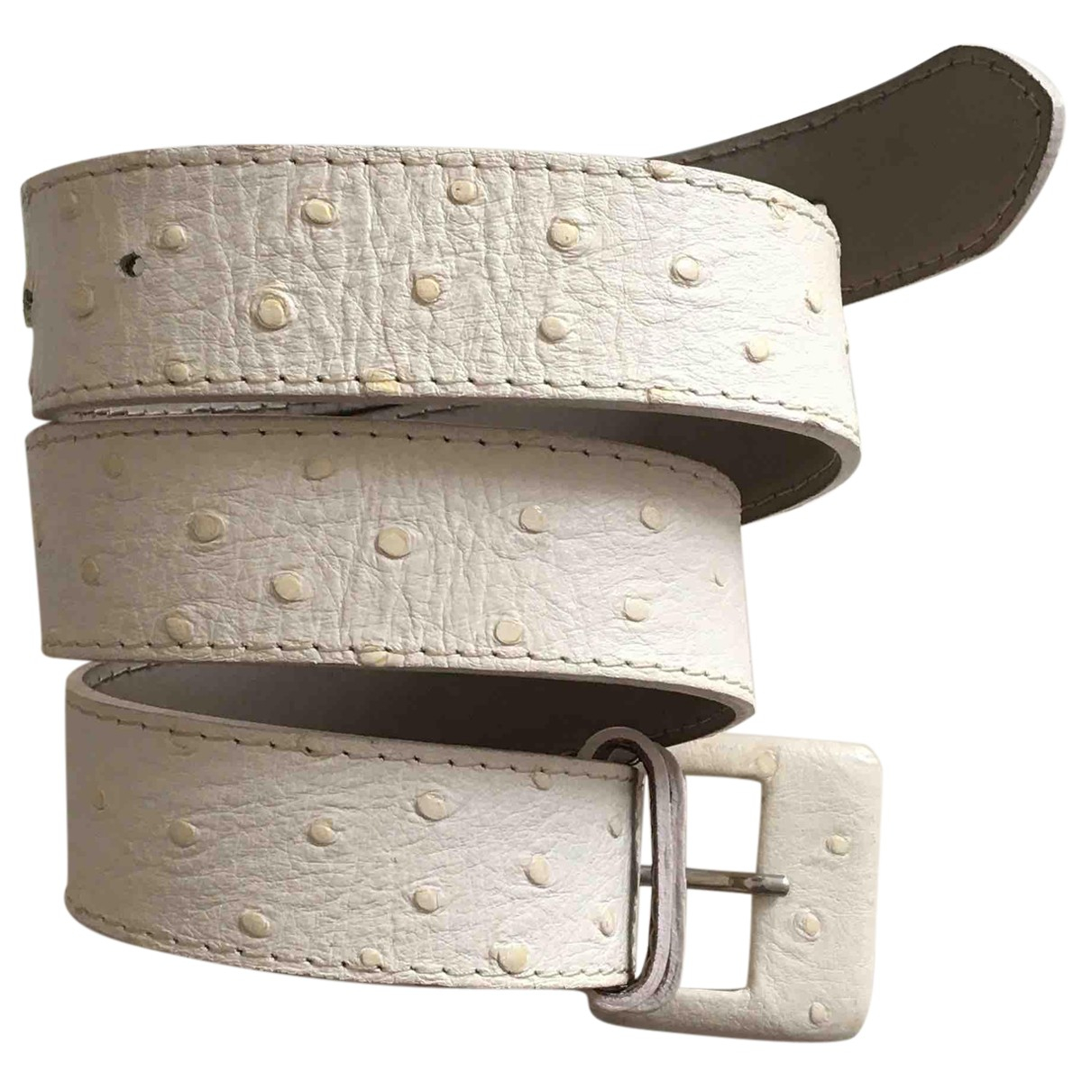 Alberta Ferretti N White Leather belt for Women 80 cm