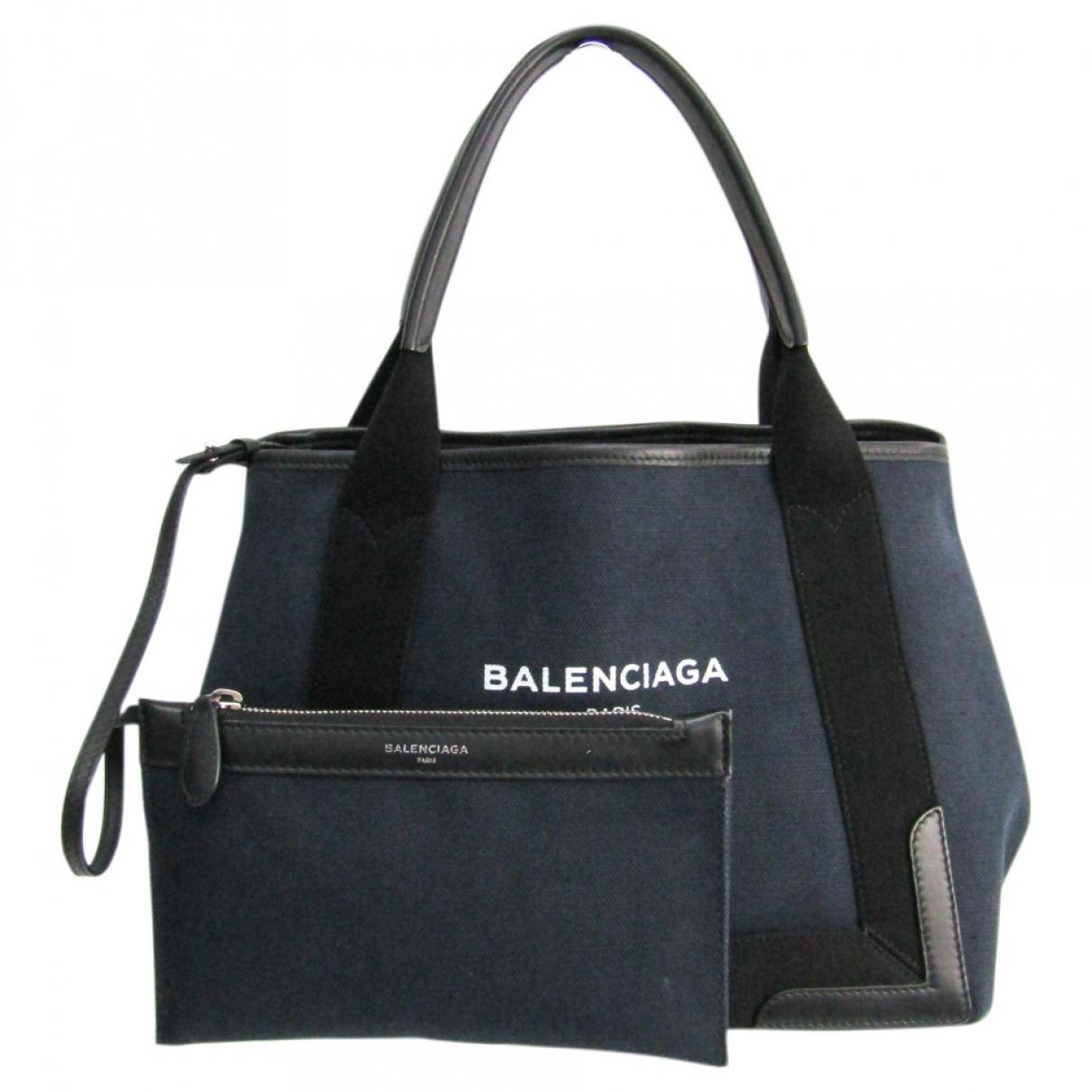 Balenciaga Navy cabas Navy Cloth handbag for Women \N