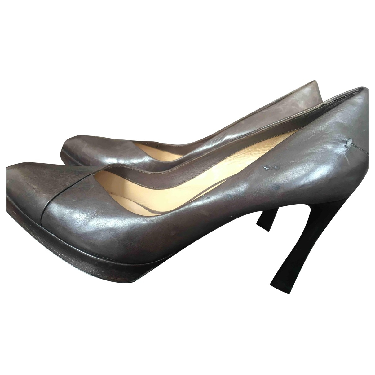 Costume National \N Pumps in  Braun Leder
