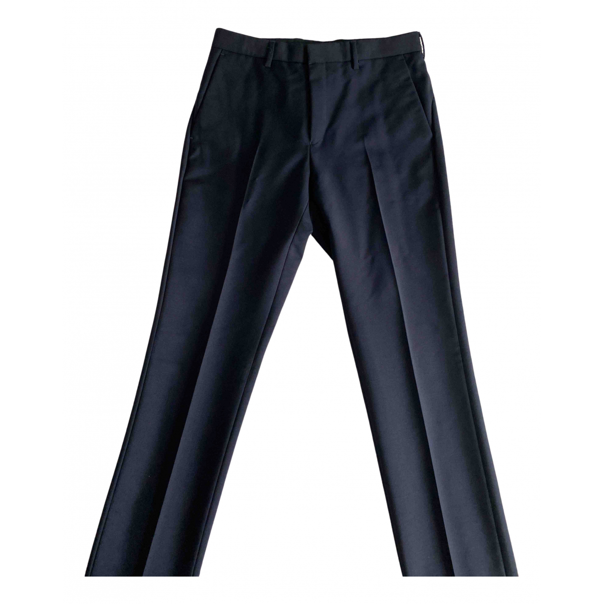 Givenchy N Navy Wool Trousers for Men 44 IT