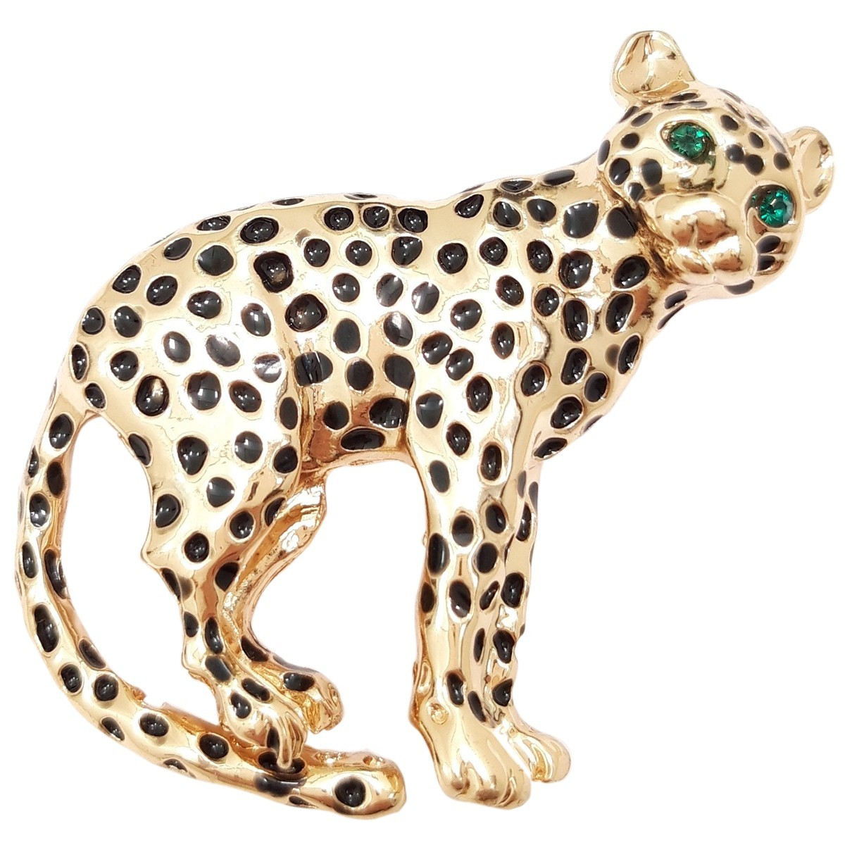 Non Signé / Unsigned Motifs Animaliers Gold Metal Pins & brooches for Women N