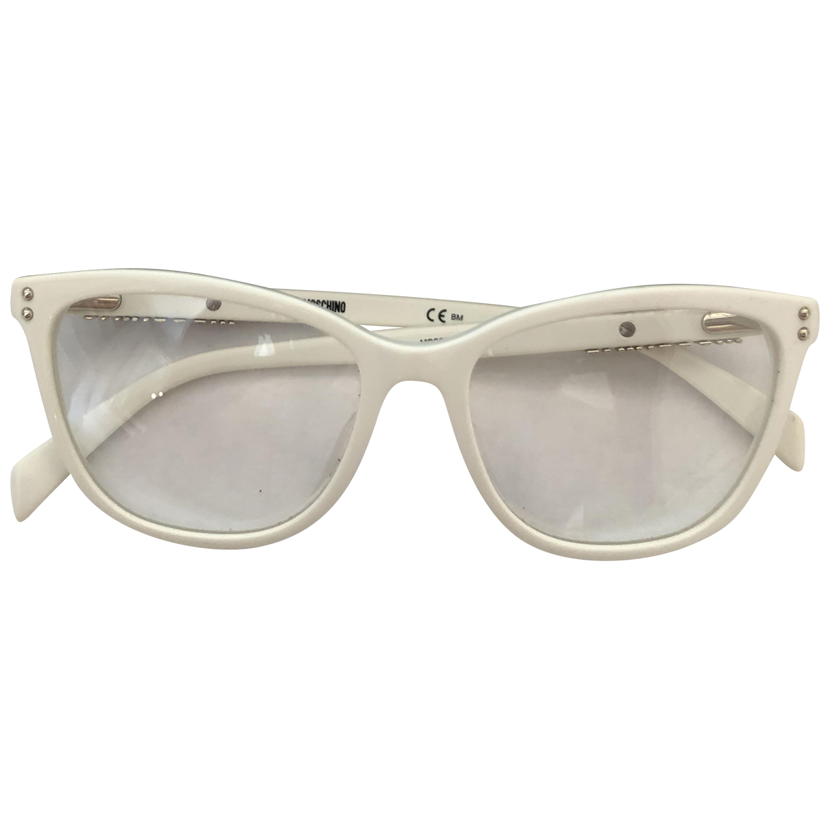 Moschino - Lunettes   pour femme - blanc