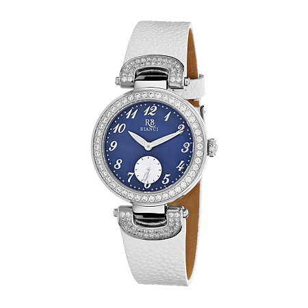 Roberto Bianci Womens White Leather Strap Watch-Rb0614, One Size , No Color Family