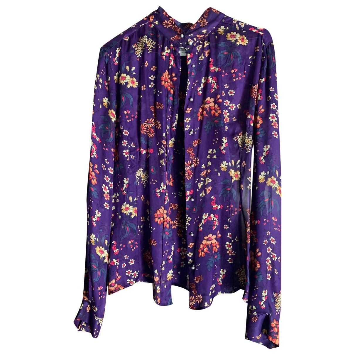D&g - Top   pour femme en soie - violet