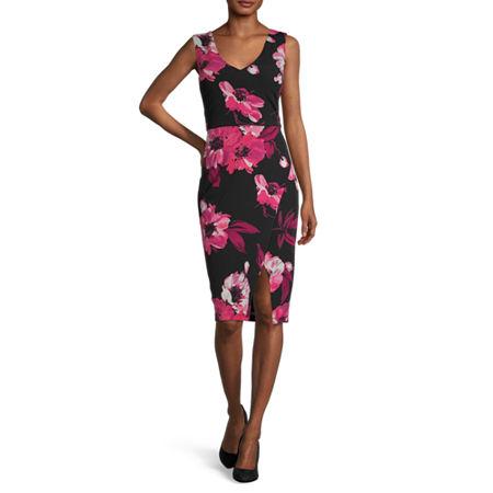 Premier Amour Sleeveless Floral Sheath Dress, 10 , Multiple Colors