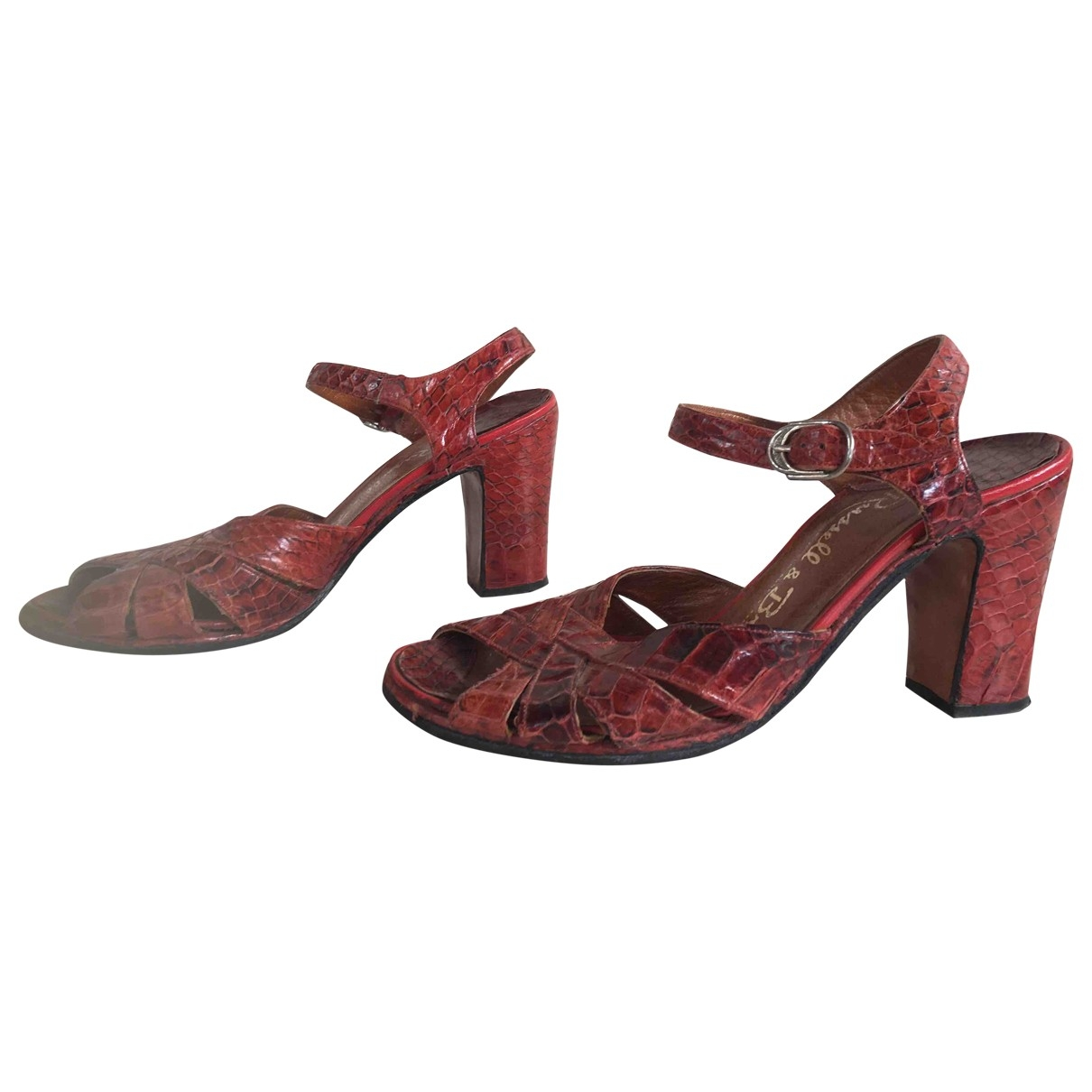 Russell & Bromley \N Orange Leather Sandals for Women 37 EU