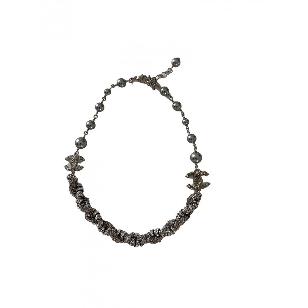 Chanel - Collier   pour femme en acier - argente