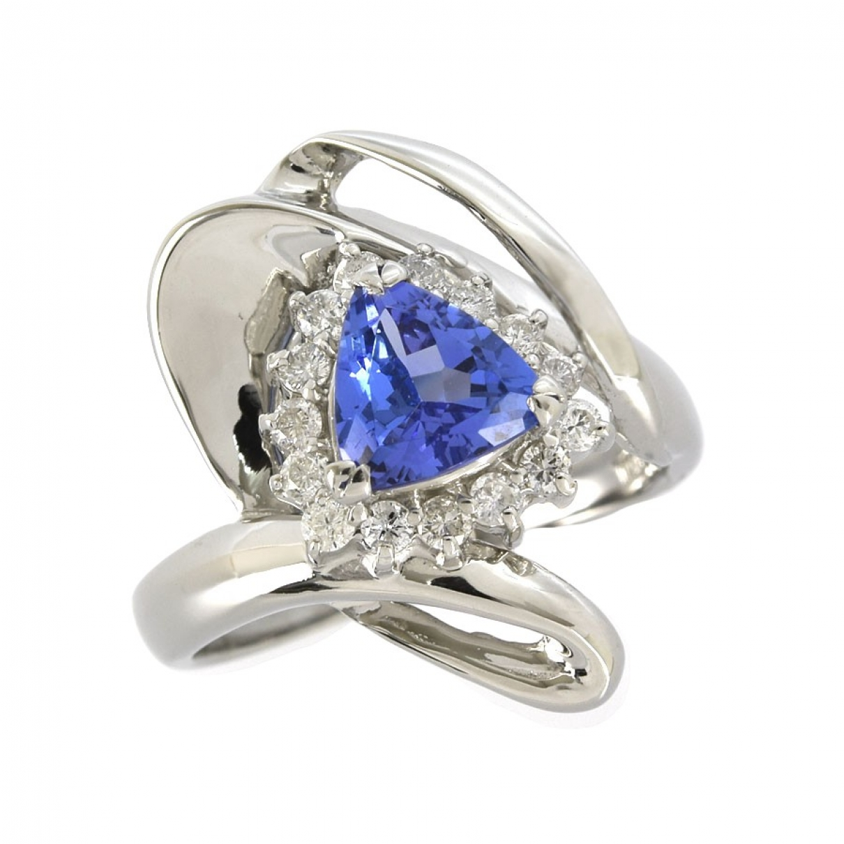 Non Signe / Unsigned \N Ring in  Blau Platin
