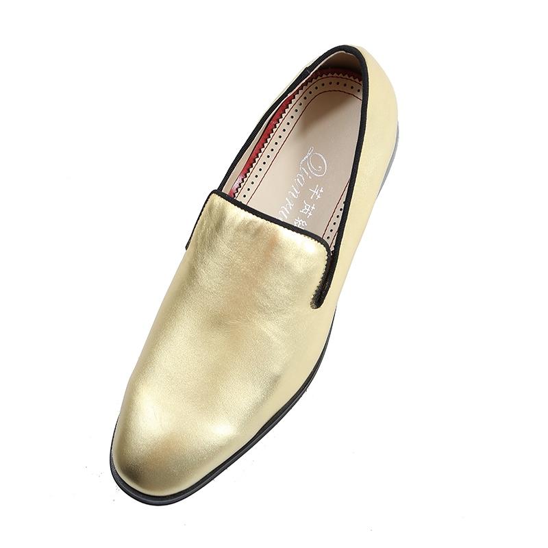 Ericdress Golden Slip-On Low-Cut Men's Oxfords