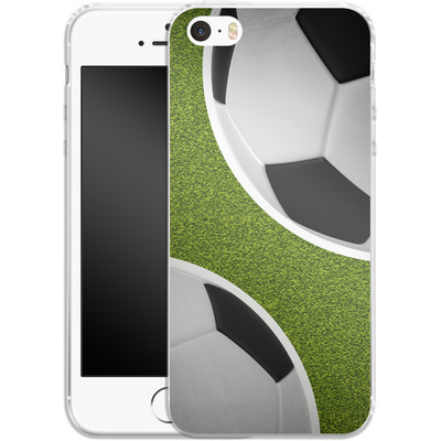 Apple iPhone 5s Silikon Handyhuelle - Two Footballs von caseable Designs