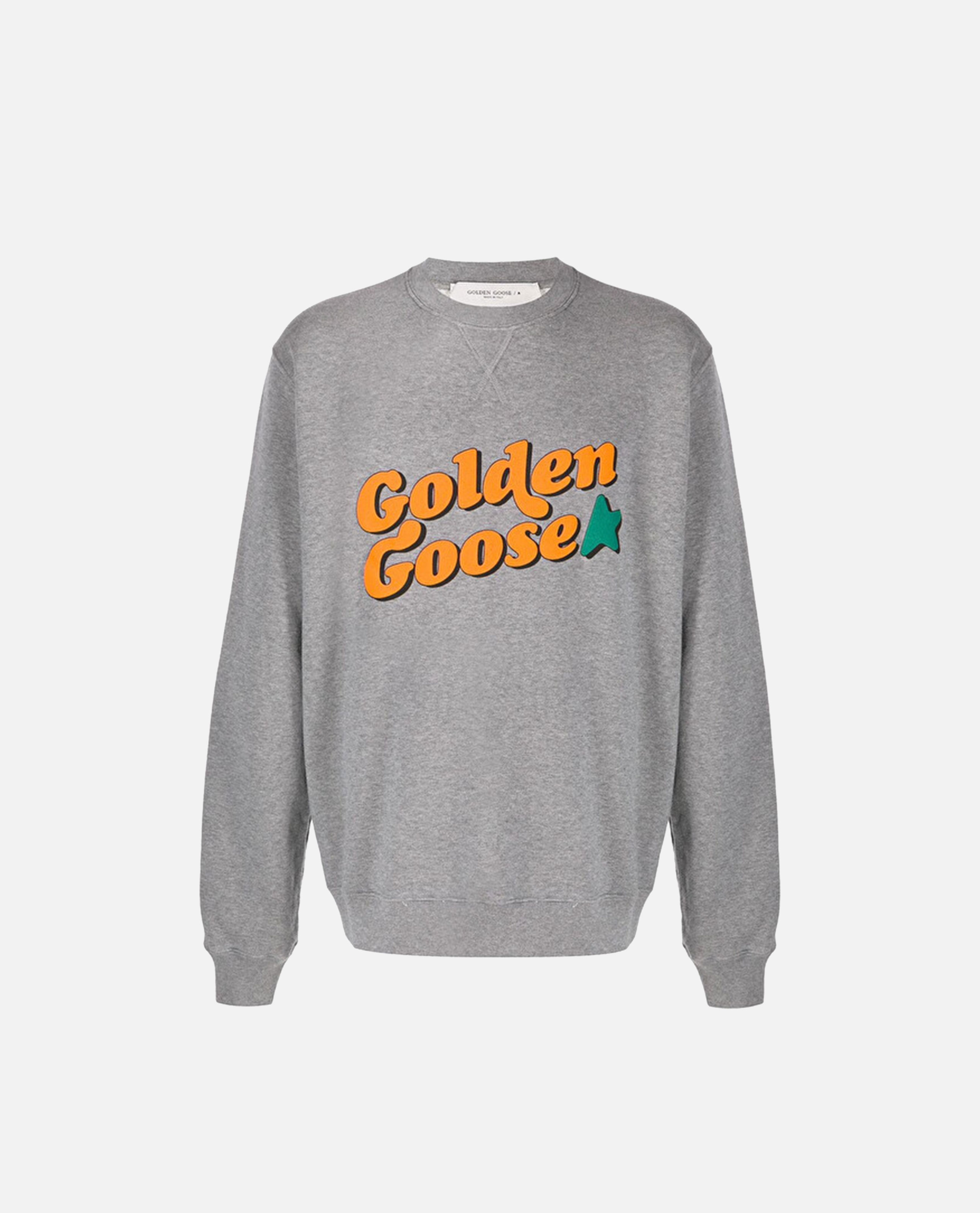 Sweatshirt with Vintage Logo Print